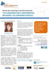 """Taller: """"Les converses per a implementar decisions i les conversesdifícils"""""""