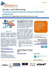 """Activitat de Networking i xerrada: """"Les xarxes socials i Internet, una gran oportunitatprofessional"""""""